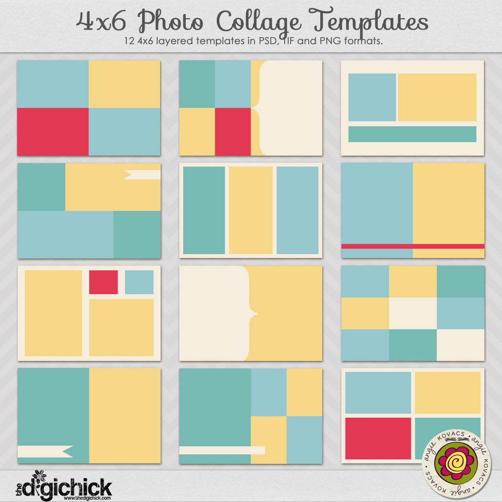 46 photo collage templates angie kovacs digital